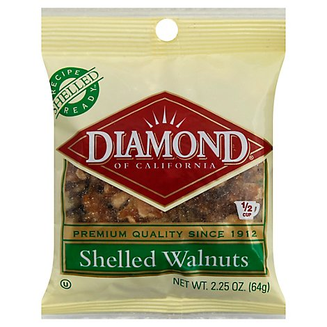 Diamond of California Walnuts Shelled - 2.25 Oz