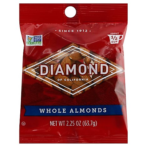 Diamond of California Almonds Whole - 2.25 Oz