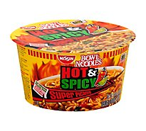 Nissin Bowl Noodles Ramen Noodle Soup Hot & Spicy Super Picante Flavor - 3.26 Oz