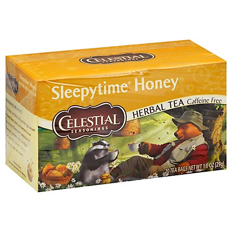 Celestial Seasonings Sleepytime Herbal Tea Bags Caffeine Free Honey 20 Count - 1 Oz
