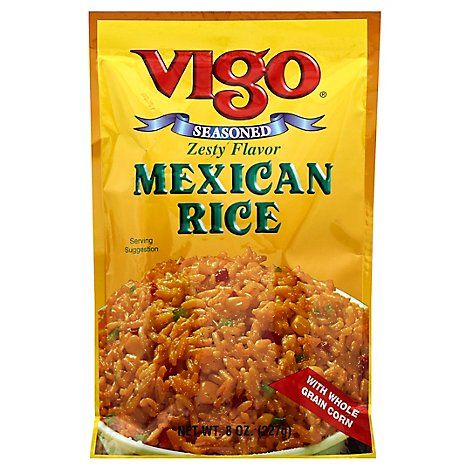 Vigo Rice Mexican Seasoned Pouch - 8 Oz
