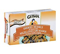 Geisha Mussels Smoked in Cottonseed Oil - 3 Oz