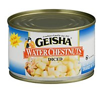 Geisha Water Chestnuts Diced - 8 Oz