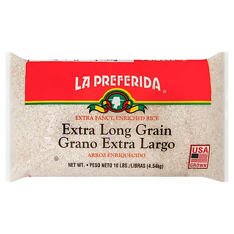 La Preferida Rice Extra Long Grain Enriched Extra Fancy - 10 Lb