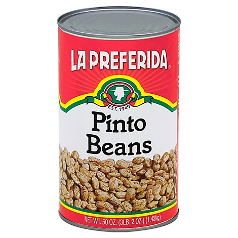 La Preferida Beans Pinto Can - 50 Oz