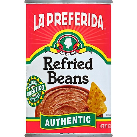 La Preferida Beans Refried Authentic Can - 16 Oz