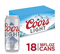 Coors Light Beer Lager 4.2% ABV In Can - 18-16 Fl. Oz.