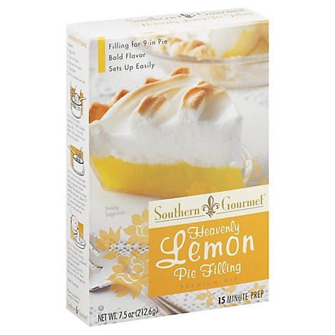 Southern Gourmet Pie Filling Mix Premium Heavenly Lemon - 7.5 Oz