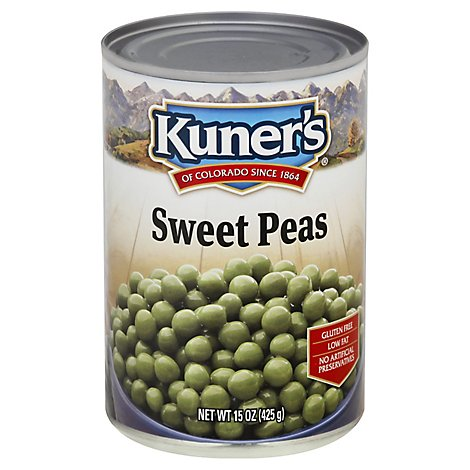 Kuners Peas Sweet Premium Young Tender - 15 Oz