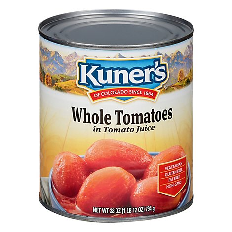 Kuners Tomatoes Peeled Whole - 28 Oz