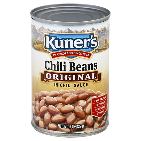 Kuners Beans Chili in Chili Sauce Original - 15 Oz