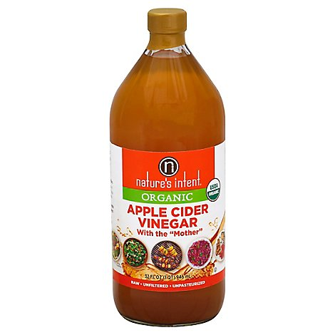 natures intent Organic Vinegar Apple Cider With the Mother - 32 Fl. Oz.