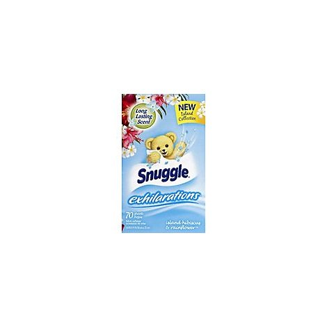 Snuggle Exhilarations Fabric Softener Island Hibiscus & Rainflower Box - 70 Count