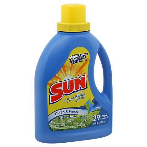 Sun Laundry Detergent 2X Ultra with Sunsational Scents Clean & Fresh Jug - 45.4 Fl. Oz.