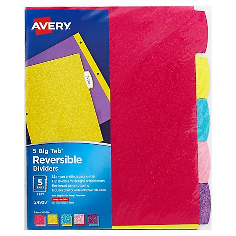 Avery Revabl Gttr  Dividers - Each