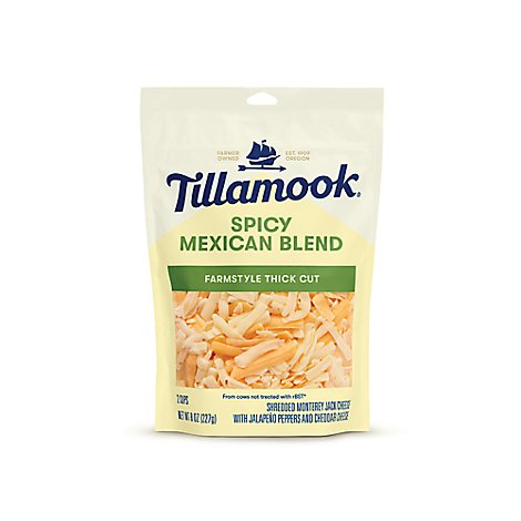 Tillamook Mexican 2 Cheese Farmstyle Cut - 8 Oz