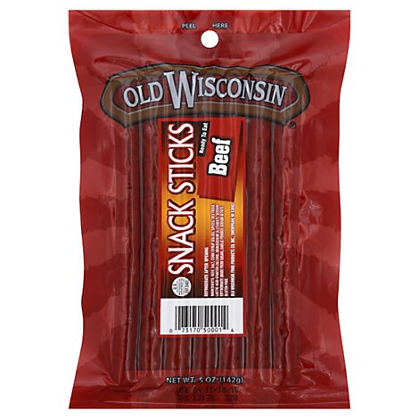 Old Wisconsin Snack Sticks Beef - 5 Oz