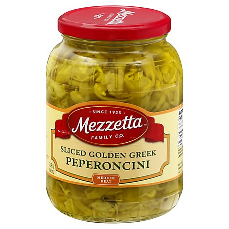 Mezzetta Peperoncini Deli-Sliced Greek Golden - 32 Oz