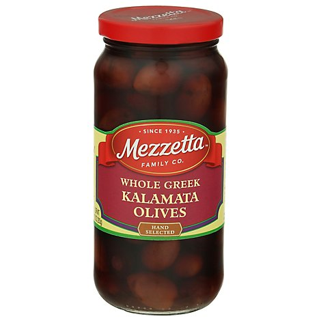 Mezzetta Olives Greek Whole Kalamata - 10 Oz
