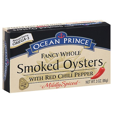 Ocean Prince Oysters Smoked Fancy Whole With Red Chili Pepper - 3 Oz