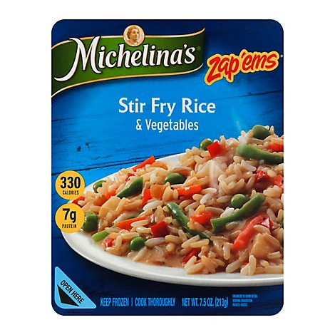 Michelinas Zap Ems Frozen Meal Rice & Vegetables Stir Fry - 7.5 Oz
