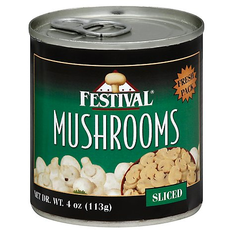 FESTIVAL Mushrooms Sliced Fresh Pack - 4 Oz