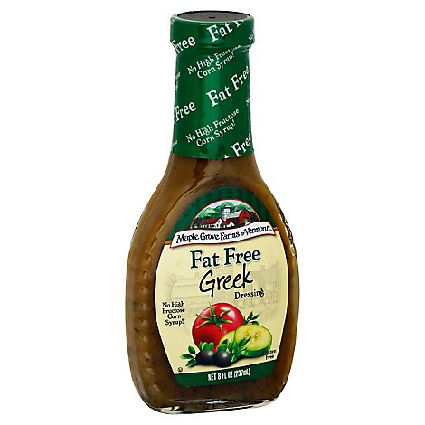 Maple Grove Farms Dressing Fat Free Greek - 8 Fl. Oz.