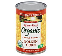 Westbrae Natural Right from the Field Organic Corn Golden Whole Kernel Can - 15.25 Oz