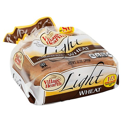 Villge Hearth Light Wheat Hamburger Buns - 13 Oz