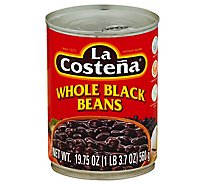 La Costena Beans Black Whole Can - 19.75 Oz