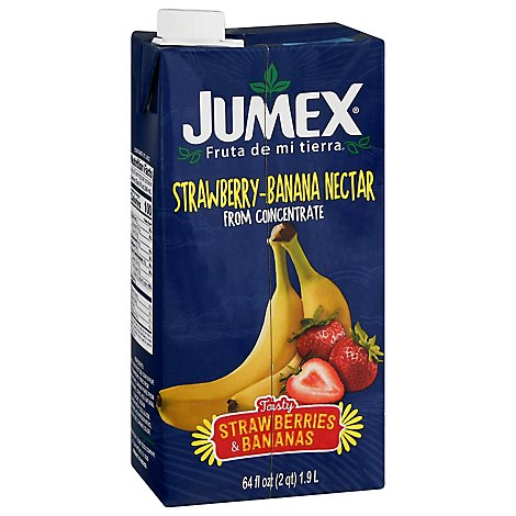 Jumex Nectar From Concentrate Strawberry-Banana Carton - 64 Fl. Oz.