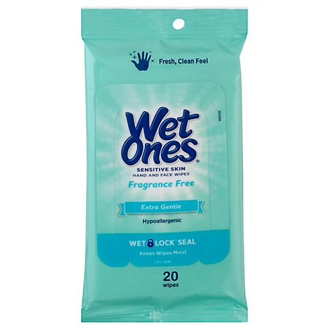Wet Ones Wipe Senstv Travel - 20 Count