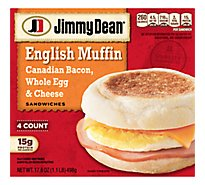 Jimmy Dean Canadian Bacon Whole Cracked Egg & Cheese English Muffin Sandwiches 4 Count
