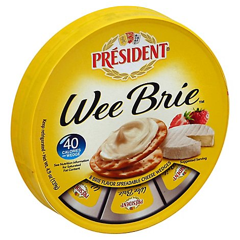 President Brie Cheese Wheel - 9 Oz