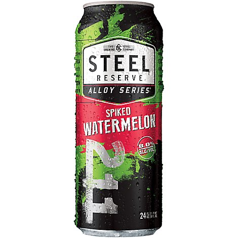 Steel Reserve Alloy Series Spiked Watermelon Flavored Malt Beverage Can 8% ABV - 24 Fl. Oz.