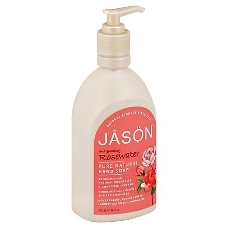 Jason Soap Satin Glyc Rose - 16 Fl. Oz.