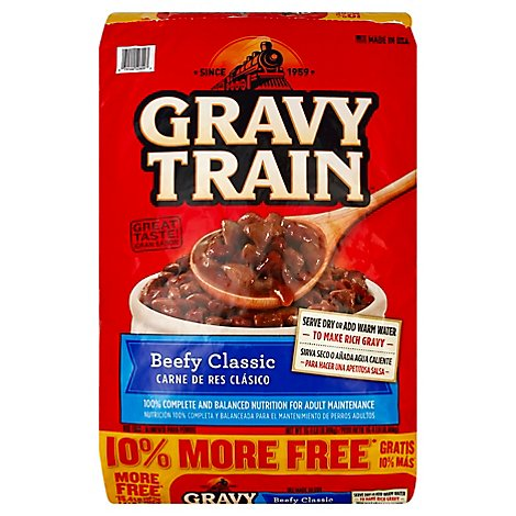 Gravy Train Dog Food Beefy Classic Bonus Bag - 15.4 Lb