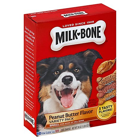 Milk-Bone Flavor Snacks Dog Snacks For All Sizes Small Peanut Butter Variety Pack - 24 Oz