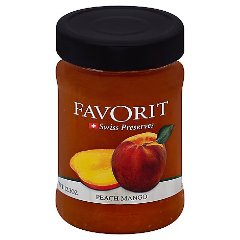 Favorit Preserves Swiss Peach-Mango - 12.3 Oz