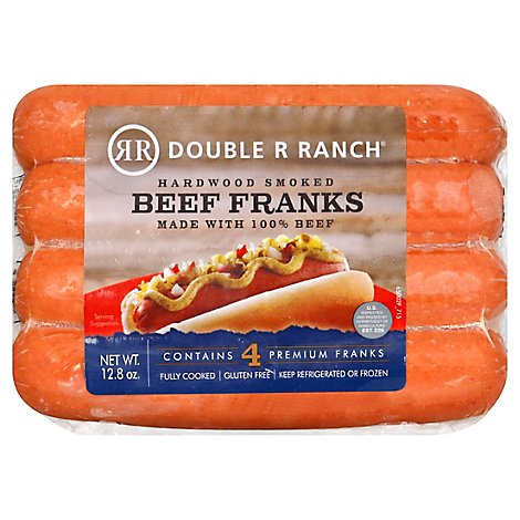 Rr Ranch All Beef Hot Dogs - 12.8 Oz