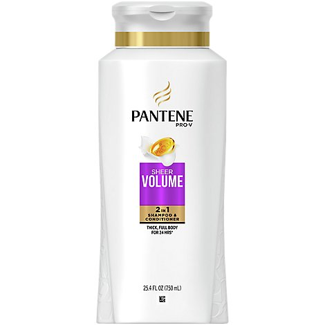 Pantene Pro V Sheer Volume Shampoo & Conditioner 2In1 - 25.4 Fl. Oz.