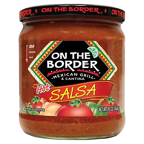 On The Border Salsa Hot Jar - 16 Oz