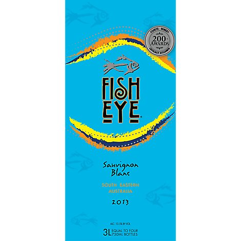 Fish Eye Wine White Sauvignon Blanc South Eastern Australia 2013 - 3 Liter
