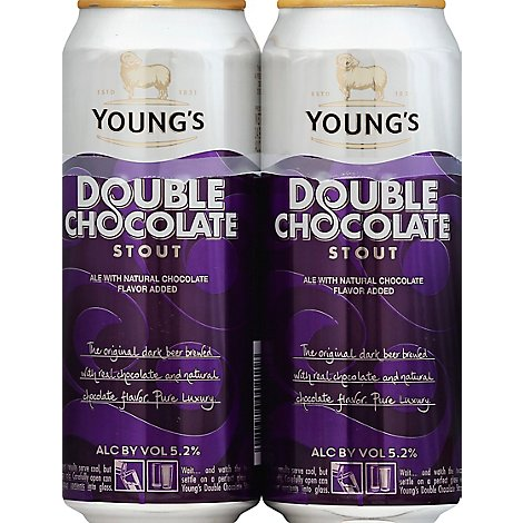 Youngs Chocolate Stout Cans - 4-14.9 Fl. Oz.