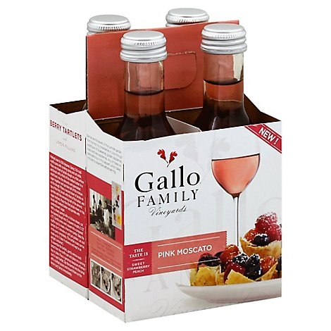 Gallo Family Vineyards Wine Pink Moscato - 4-187 Ml