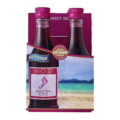 Barefoot Cellars Sweet Red Wine -4-187 Ml