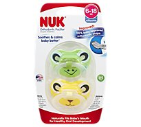 Nuk Sil Animal Pacifiers Sz2 2 Ct - 2 Count