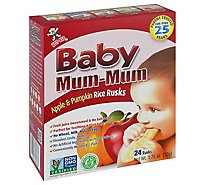 Hot Kid Baby Mum-Mum Rice Rusks Selected Superior Apple 24 Count - 1.76 Oz