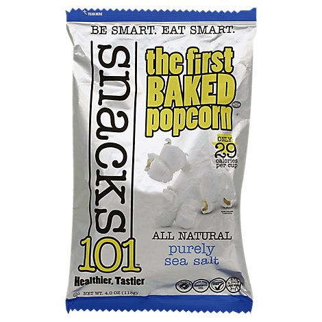 Snacks 101 The First Baked Popcorn Purely Sea Salt - 4 Oz
