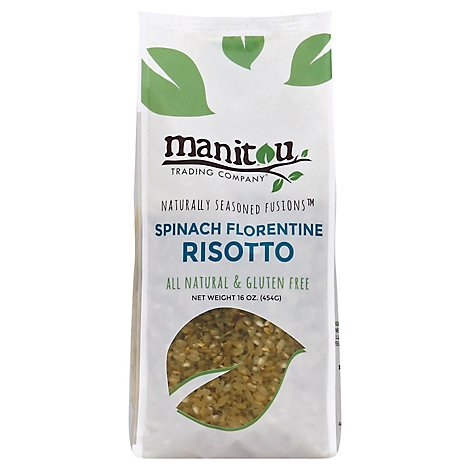 Manitou Trading Risotto Gluten Free Spinach Florentine Bag - 16 Oz